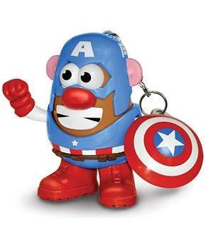 "Marvel 2"" PopTater Character Keychain: Captain America"