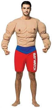 Baywatch Muscle Beach Lifeguard Adult Costume