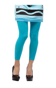 Crayola Sky Blue Footless Tights Costume Accessory Adult