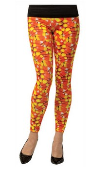 Candy Corn Leggings Adult Costume Accessory
