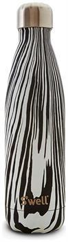 S'well 17oz Stainless Steel Water Bottle: Noir Zebra
