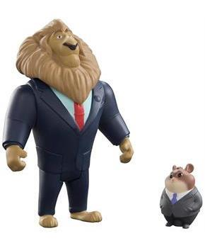 Disney Zootopia Chararcter 2-Pack Mayor Lionheart and Lemming Businessman