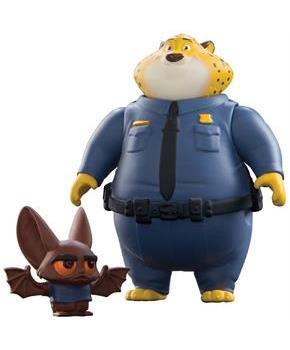 Disney Zootopia Chararcter 2-Pack Clawhauser and Bat Eyewitness