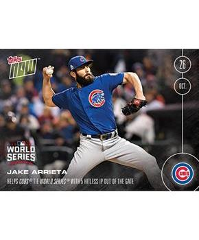 Chicago Cubs Jake Arrieta #632 Topps NOW 5 Hitless IP Out Of The Gate