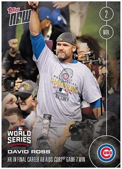 MLB Chicago Cubs David Ross #658 2016 Topps NOW Trading Card