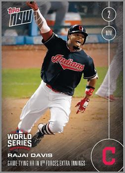 MLB Cleveland Indians Rajai Davis #659 2016 Topps NOW Trading Card