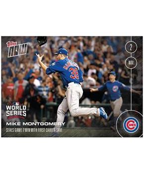 MLB Chicago Cubs Mike Montgomery #662 2016 Topps NOW Trading Card