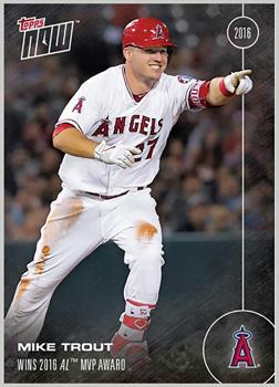 LA Angels Mike Trout #OS-31 Topps Now 2016 American League MVP Award Winner