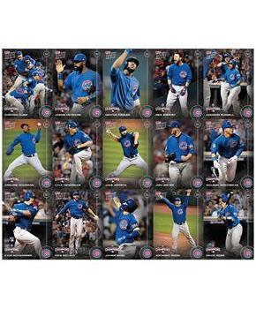 MLB Chicago Cubs 2016 World Series Championship Topps Trading Card Set