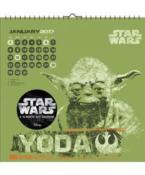 "Star Wars Saga Art 2017 12""x12"" Wall Calendar"