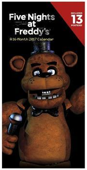 "Five Nights At Freddy's 2017 12""x6"" Vertical Wall Calendar"