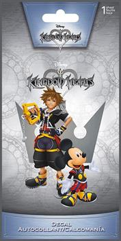 "Kingdom Hearts Sora & Mickey 4""x8"" Color Decal"