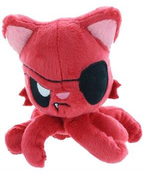 "Tentacle Kitty 4"" Little One Plush, Pirate (Red)"