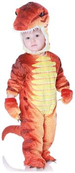 T-Rex Dinosaur Child Costume Rust Color