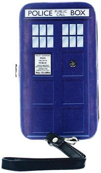 Doctor Who Women's TARDIS Hinged Clutch Purse