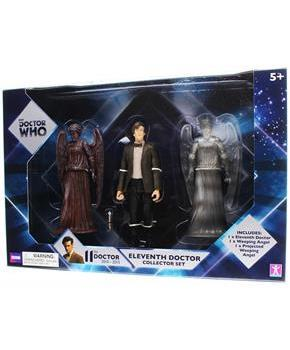 "Doctor Who 5.5"" Action Figure Set: 11th Doctor , Weeping Angels"