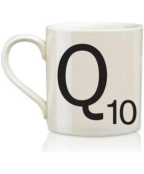 Scrabble Coffee Mug Letter Q As Used In James Bond Movie By Q