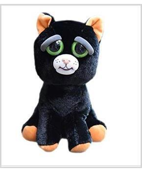"Feisty Pets Katy Cobweb Black Cat 8"" Plush"