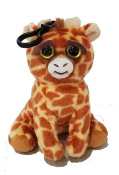 "Feisty Pets 4"" Plush, Scrappy Savannah Giraffe (Tongue Out)"