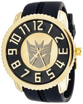 Boys Transformers Collector Edition Watch Decepticon Gold With Black