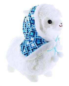 "Llama with Hood 12"" Plush, White"
