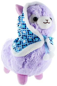 "Llama with Hood 12"" Plush, Purple"