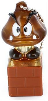 Super Mario Galaxy Light Up Keychain Figure Goomba