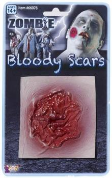 Zombie Prosthetic Bloody Scar Wound Costume Accessory