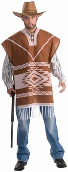 Lonesome Cowboy Poncho Costume w/ShirtandAttached Vest Adult