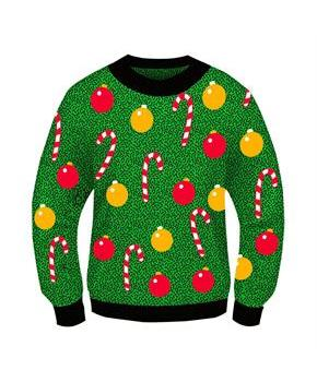 Ugly Christmas Ornament Adult Sweater
