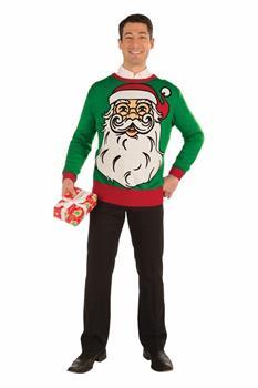 big santa ugly christmas sweater adult - Adult Ugly Christmas Sweater