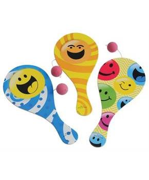 Smile Paddle Balls (Include 12 Units)