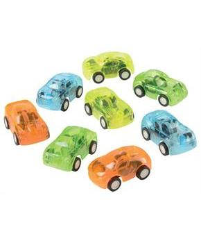 Transparent Pull Back Cars/8-Pc (Include 8 Units)