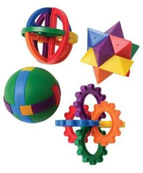 Plastic Puzzle Balls (Include 12 Units)