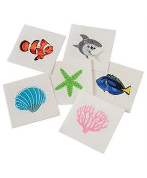 Coral Reef Tattoos (Include 144 Units)
