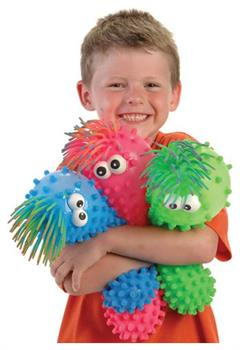 Knobby Puffer Toy W/Eyes (Include 1 Units)