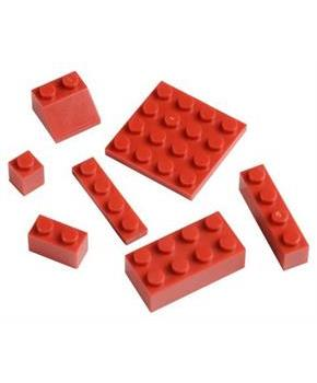 Blocks Assortment Red (Include 1 Units)