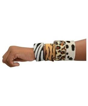 Animal Print Slap Bracelets/8-Pc (Include 8 Units)