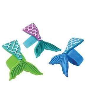 Mermaid Tail Rubber Rings (Include 12 Units)