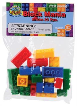 Block Mania Bricks/25-Pc (Include 25 Units)