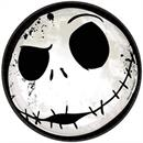 "Nightmare Before Christmas 7"" Round Paper Party Plates - 8 Count"