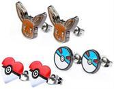 Pokemon Eevee and Pokeballs Stud Earrings, Set of 3