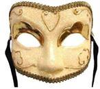 Golden Lady Eye Venetian, Masquerade, Mardi Gras Mask