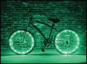 Wheel Brightz Lightweight LED Bicycle Safety Light Accessory Green