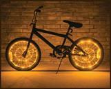 Wheel Brightz Lightweight LED Bicycle Safety Light Accessory Gold