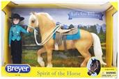 Breyer 1:9 Traditional Series Model Horse Set: Let's Go Riding, Western