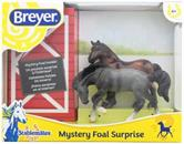 Breyer 1:32 Stablemates Foal Surprise Roan Rivet & Bay Drafter Model Horse Set