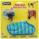 Breyer 1:12 Classic Model Horse Tack and Blanket Set, Blue & Green