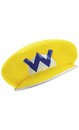 Super Mario Bros Nintendo Wario Costume Hat Child One Size