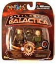 Battlestar Galactica Minimates Lt. Helo and Chief Galen Tyrol Variant